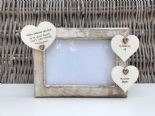 Shabby personalised Chic Photo Frame In Memory Of Sister ~ Loved One Or Any Name - 232993332429